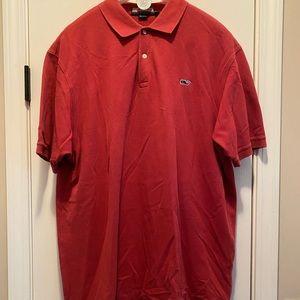 VINEYARD VINES Vintage solid Red Polo Shirt XL